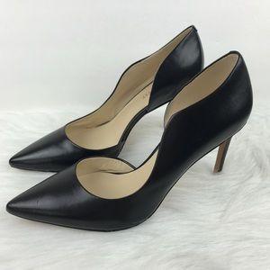 Nine West Black Pointy Toe Pumps Heels 7.5 New